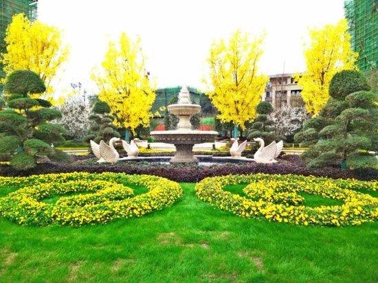 惊艳!黄石也有如此园林,恒大帝景冬季仍繁花似锦