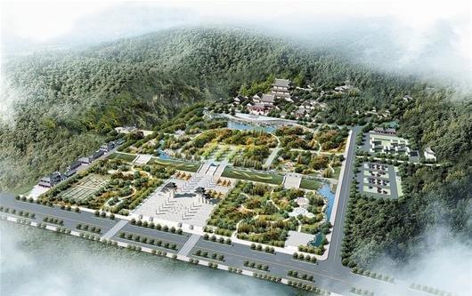鄂州西山广场鸟瞰图