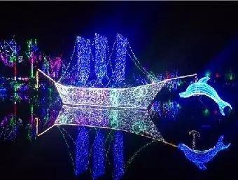黄石梦幻灯光节璀璨首秀,航宇仁智山水与你梦幻相约!