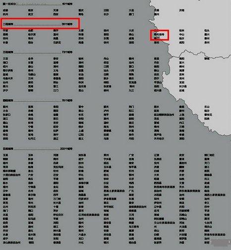 中国城市新分级名单出炉:呼市跻身二线 房价何