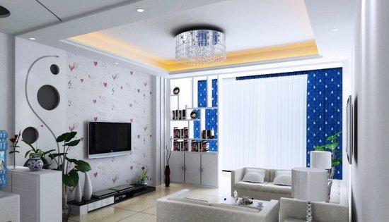 时尚大气的现代简约电视墙效果图 现代简约 三居室 装修设计 搜房家居高清图片