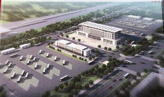 据了解,客运枢纽中心的站务综合楼主体建筑已经完工,站前广场及停车场
