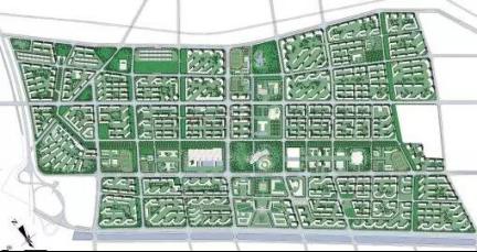 (沙北新区规划图)