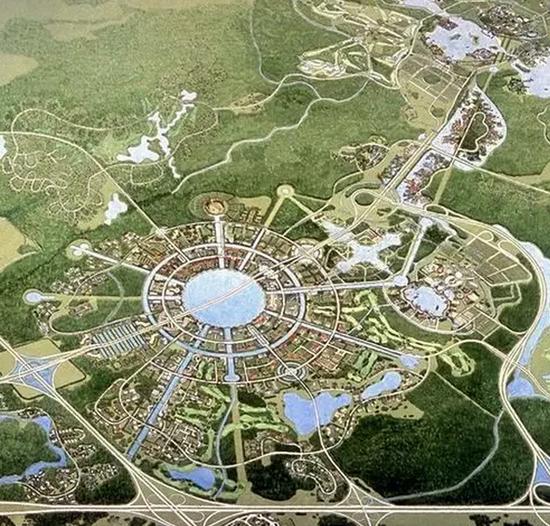 雄安新区规划图出炉 堪比纽约 东京 ,麒麟新城规划不示弱