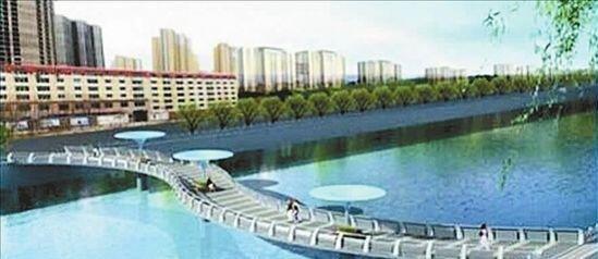 西河景观人行桥选定丝带造型 预计年底前开工