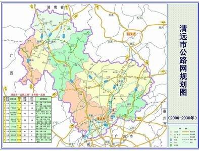 广东清远市区地图