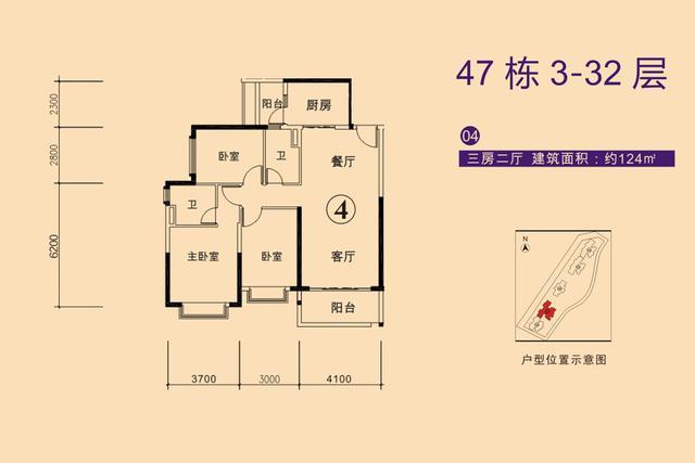 刚需户型做出豪宅品质 点评恒大88-124㎡全景三房
