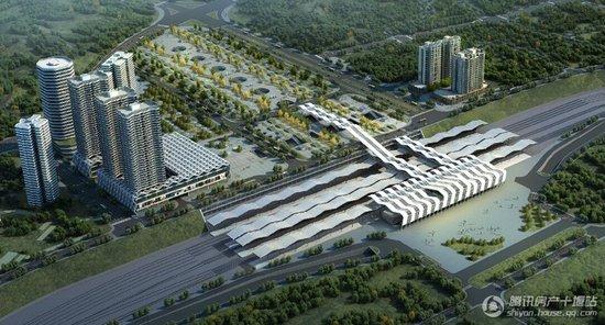 火车站北广场鸟瞰图