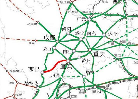 延伸阅读: 宜西铁路 宜(宾)西(昌)铁路从宜宾市经雷波,昭觉至西昌市