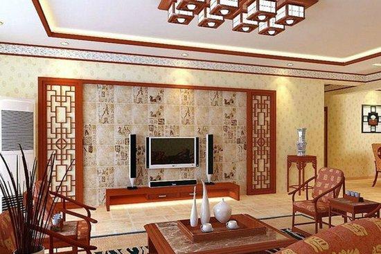 中式别墅客厅装修效果图图片