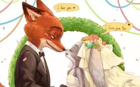 兔子朱迪和狐狸尼克入住幸福枫景图片