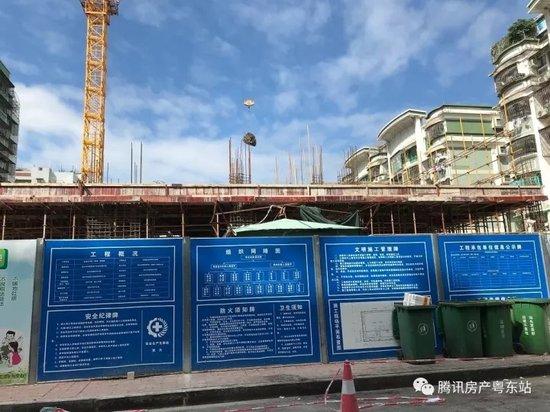进度:聚雅楼现已建至地面一层 预计明年完工