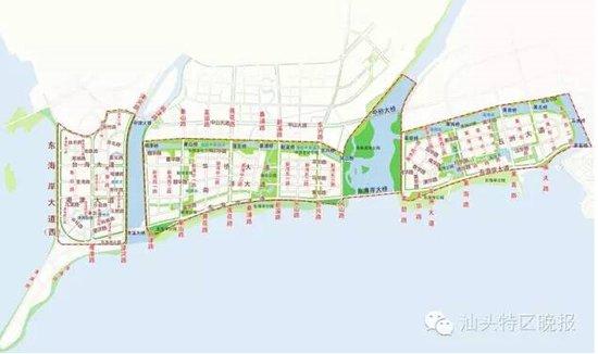 东海岸新城地名规划图-汕头东西新城地名升级 东海岸新津片区定名 津湾
