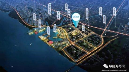 敏捷·海琴湾主体局部建设至四层顶板