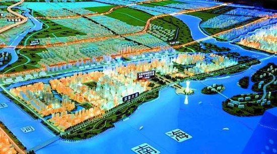 海湾新区规划模型-华侨试验区建设大幕正拉开 东海岸新城建设热火朝天