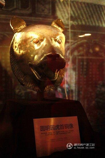 圆明园虎首铜像-圆明园兽首真品暨金铜佛像展将于保利原点广场开幕