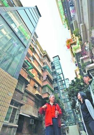 不少旧居民楼安装了电梯.(资料图)广州日报全媒体记者 莫伟浓摄
