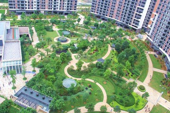 园林景观俯瞰图-高端阔景豪宅广和 澳海城目前均价10000元 ㎡