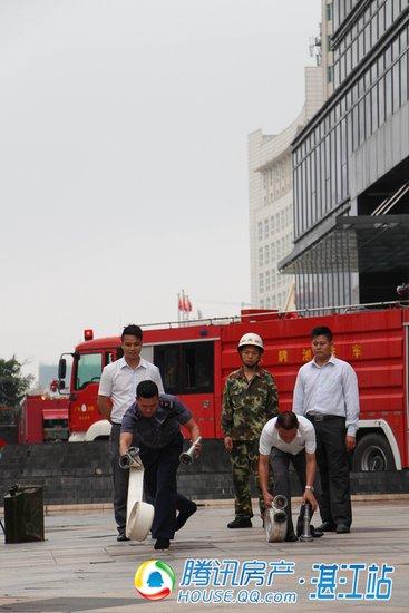 西粤京基城、湛江市赤坎消防大队开展联合消防演习
