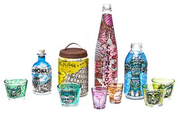 彩绘玻璃瓶diy图片