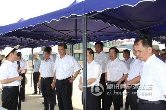 省市领导视察荣盛·8848中央广场观海长廊段