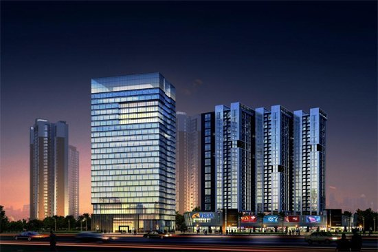 各具特色高端写字楼 打造湛江CBD商圈