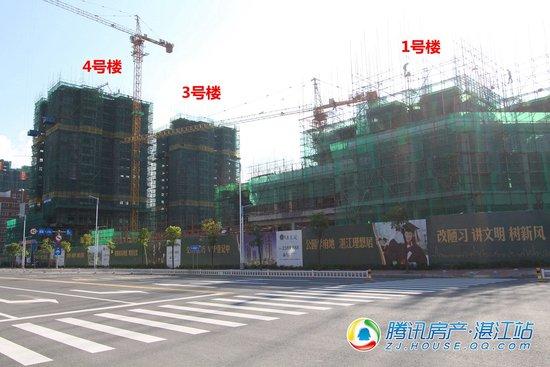 公园学府地,湛江理想居,清逸阁10月工程进度播报