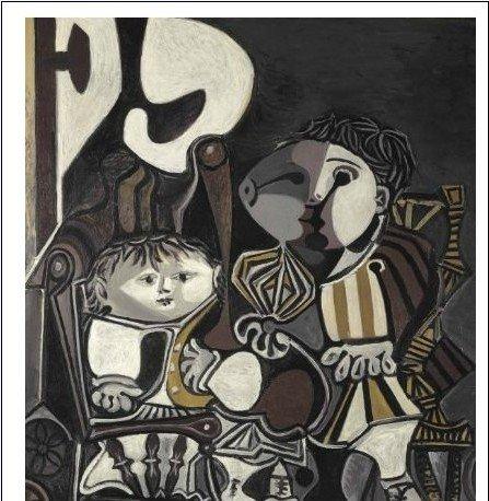 毕加索名画《两个小孩》高清图片