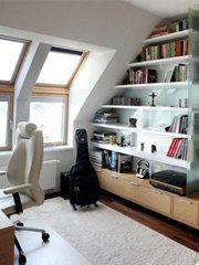 巧用三角空间建书房