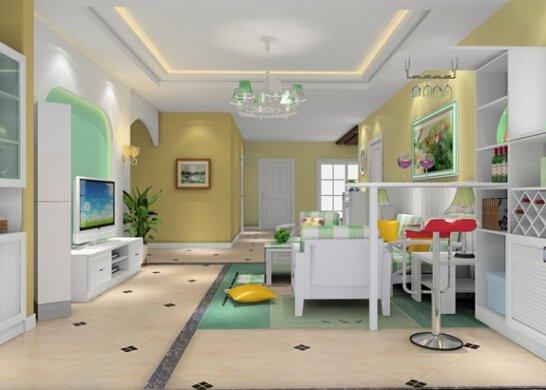 经典韩式客厅装修效果图