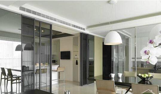 4款厨房隔断玻璃门设计图片