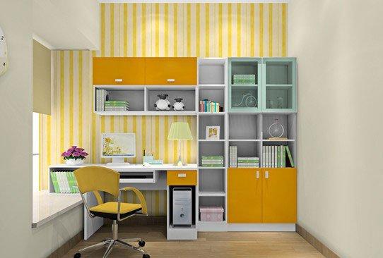 书桌跟书架的组合图片
