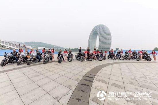 哈雷+美女助阵 永晖·壹号院临展中心震撼盛启