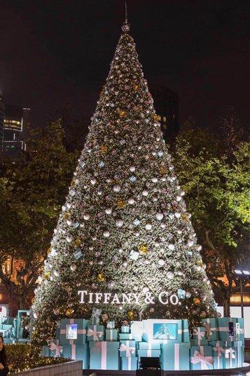 15米湖州最高圣诞树下众多礼物空降融创·西山宸院