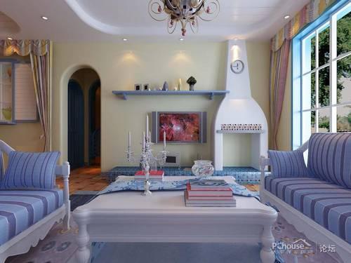 7.5万花果园80后新婚小夫妻的105平米地中海三居室