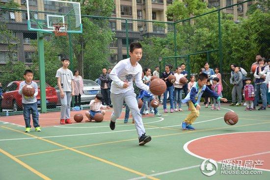 以球会友 翰林世家篮球队招募&邻里友谊赛圆满落幕