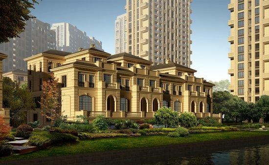 现代欧式建筑效果图