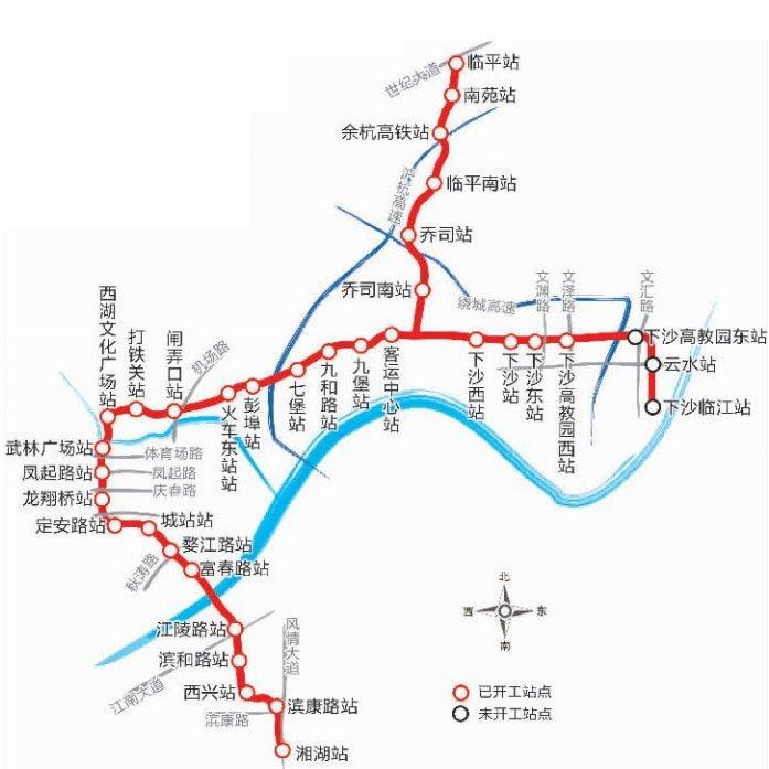 杭州地铁4号线线路图图片