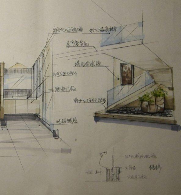 和达御观邸132方手绘效果图-楼梯