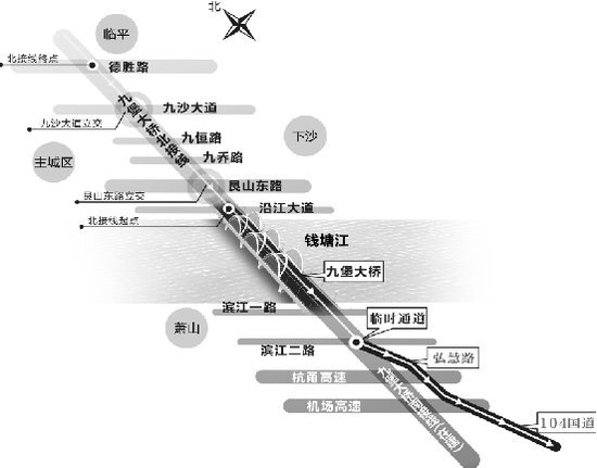 九堡大桥规划图