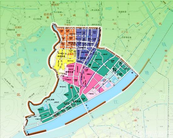 杭州上城区地图