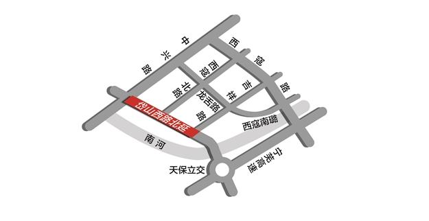 南京岱山西路年底北延 开车10分钟到河西南