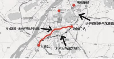 宁芜铁路外绕尚未有明确时间表 线路方案已确定