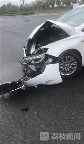 新车上路出事故 还未来及上牌照