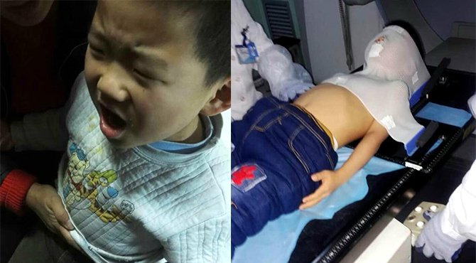 5岁男孩患脊髓肿瘤 盲人母亲向社会求救