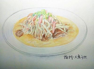 扬州大学学生《手绘江苏美食》走红网络