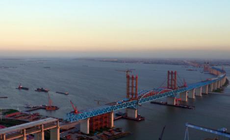江苏过江通道规模将达45座 沪苏通段将有8座