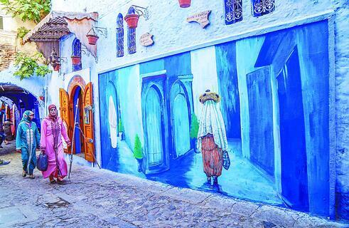 北非摩洛哥古镇:蓝色童话世界