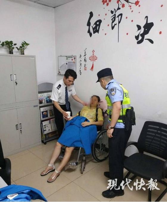 孕妇低血糖晕倒获救 想代腹中胎儿认民警做干爹