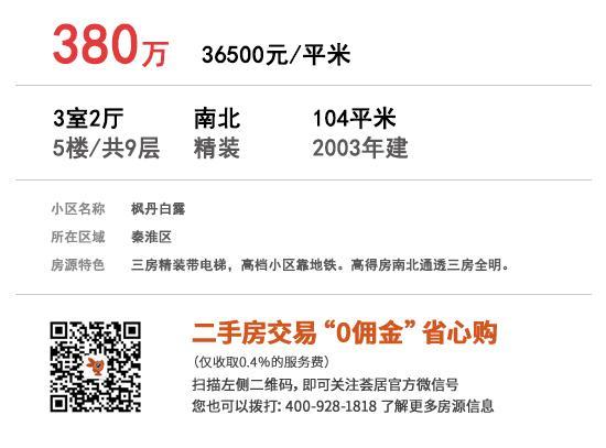 枫丹白露 104㎡ 380万